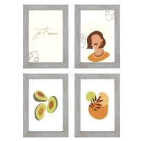 Annecy 4x6 Picture Frame (4 Pack, Gray) - 4x6 Photo Frames with High-Definition Real Glass for 4x6 - Wall Mount & Table Top Display