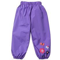 Toddler Waterproof Rain Pants Dirty Proof Windbreak Cute Outwear Pants for Boys and Girls