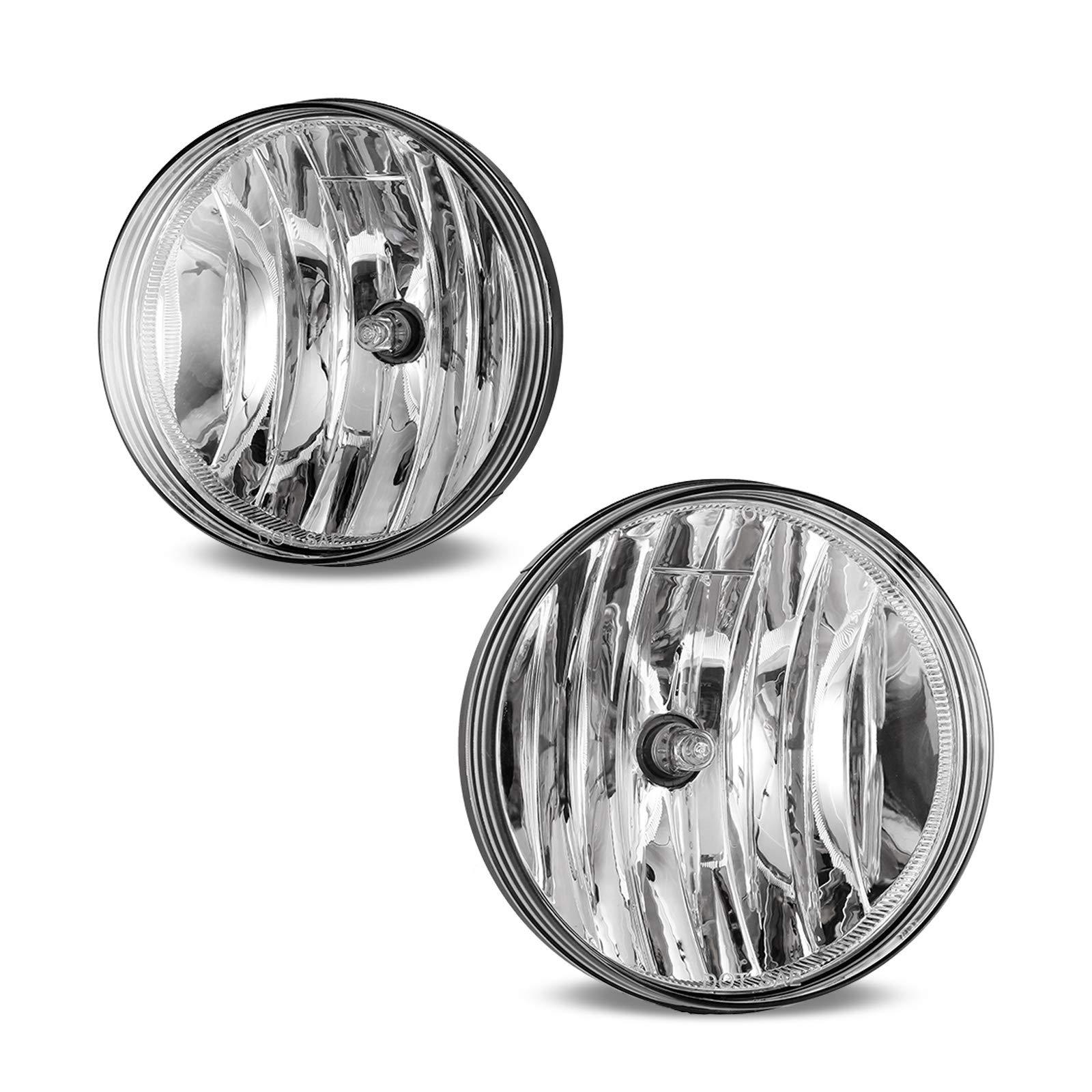 Fog Lights Fit for 2007-2013 GMC Sierra 1500, 2007-2014 Sierra 2500 HD/3500 HD (Not Fit Classic Models) 2PCS AUTOWIKI