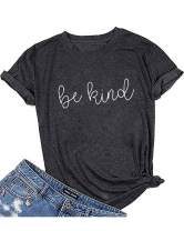 Mansy Women's Cross Faith T-Shirt Casual Short Sleeve Letter Printed Summer Cute Graphic Tee Tops