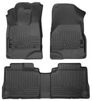 Husky Liners 98131 Black Weatherbeater Front & 2nd Seat Floor Liners Fits 2010-2017 Chevrolet Equinox, 2010-2017 GMC Terrain