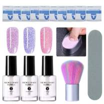 NICOLE DIARY Dip Nail Powder Nail Starter Kit Dipping System Liquid Dipping Nail Powder for French Nail with Nail Files,Nail Cleaning Brush,Nail Remover Pad and Nail Dip Container Tray