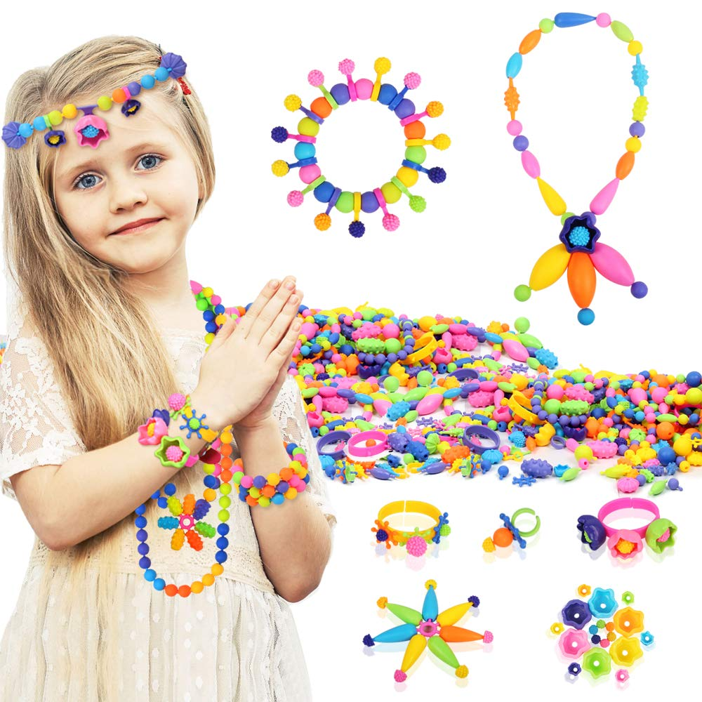 Tomons Pop Beads, DIY Jewelry Making Kit Art Crafts Creativity Toys for 3, 4, 5, 6, 7 ,8 Year Old Girls
