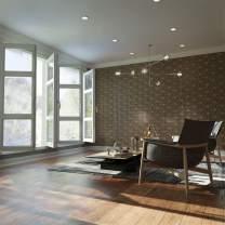 "Ekena Millwork WALW12X12X0375HMPBI Hampton 3/8""T Decorative Fretwork Wall Panels, 11 W X 13 1/8"" H, Birch"