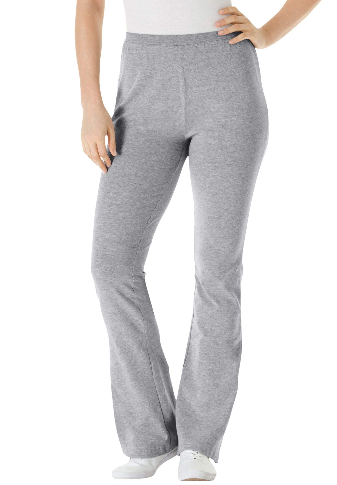 Woman Within Women's Plus Size Stretch Cotton Bootcut Yoga Pant