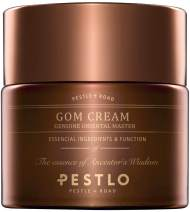 PESTLO GOM Cream (2.19 fl.oz./65ml) | Non-Oily, Non-Sticky, Nourishing, and Quickly Absorbed Hydration and Anti-Wrinkle Face Cream with Real Gold, Red Ginseng, Matsuhodo and Chaga Mushrooms