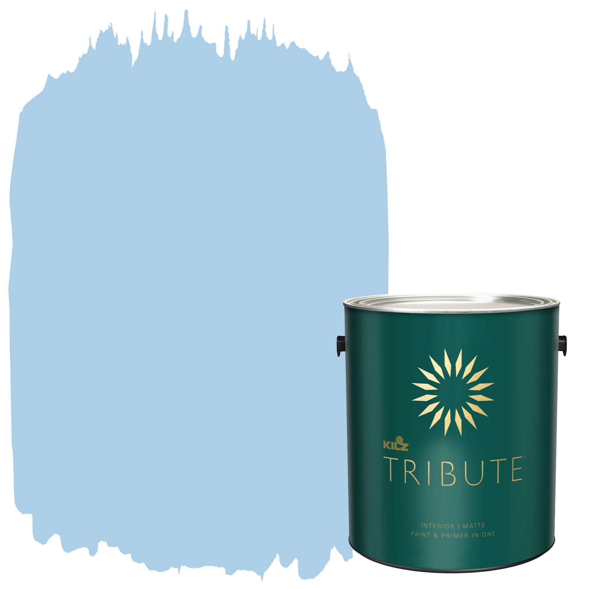 KILZ TRIBUTE Interior Matte Paint and Primer in One, 1 Gallon, Sea Balm (TB-43)