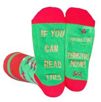 If You Can Read This Socks Funny Novelty Christmas Movies Socks