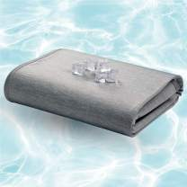 """Bedsure Cooling Blanket for Hot Sleepers - Cold Blanket for Summer, Cooling Blanket for Night Sweats, Body Cooling Throw Blanket for Sleeping, Grey Twin Size 60"""" x 80"""""""