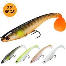 "TRUSCEND Fishing Lures, 2.8"" ~8"" Bass Lures with Ultra-Sharp BKK Hooks, Japan Formula, Paddle Tail Swimbaits, Eco-Friendly Material, Manual Printing"