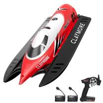 VOLANTEXRC Remote Control Boat Claymore for Pools and Lakes, 20MPH High Speed Radio Control Boat for Kids and Adults, 2.4Ghz RC Boat with Self-righting, Reverse for Boys and Girls 2 Batteries (795-2)