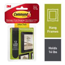 Command 17206BLK-12ES Picture Hanging Strips Value Pack Frame stabilizer, 12 Pairs, Black