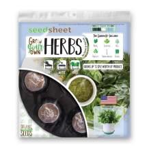 Home Garden Seeds – Seedsheet Grow Your Own Organic Gardening Pods – Eco Friendly Ingredients – Starter – Seedsheet Only (Herbs)