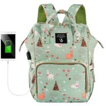 Cute Backpack Diaper Bags Insulation Waterproof with Charging Port
