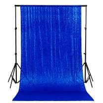Royal Blue Shimmer Backdrop Blue 7FTx7FT Sequin Photo Backdrop Elegant Backdrops 84inx84in Sequin-Backdrop-Curtain -0919E