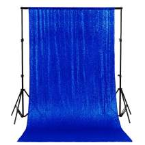 -Photo Booth Wedding Props-Sequin Fabric Backdrops Sweets for Weddings Party Curtains Decorations-2FTx7FT (Royal Blue)