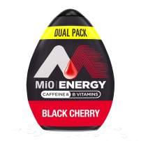 MiO Energy Black Cherry Liquid Water Flavoring Enhancer, 2-1.62 fl. oz. Bottles