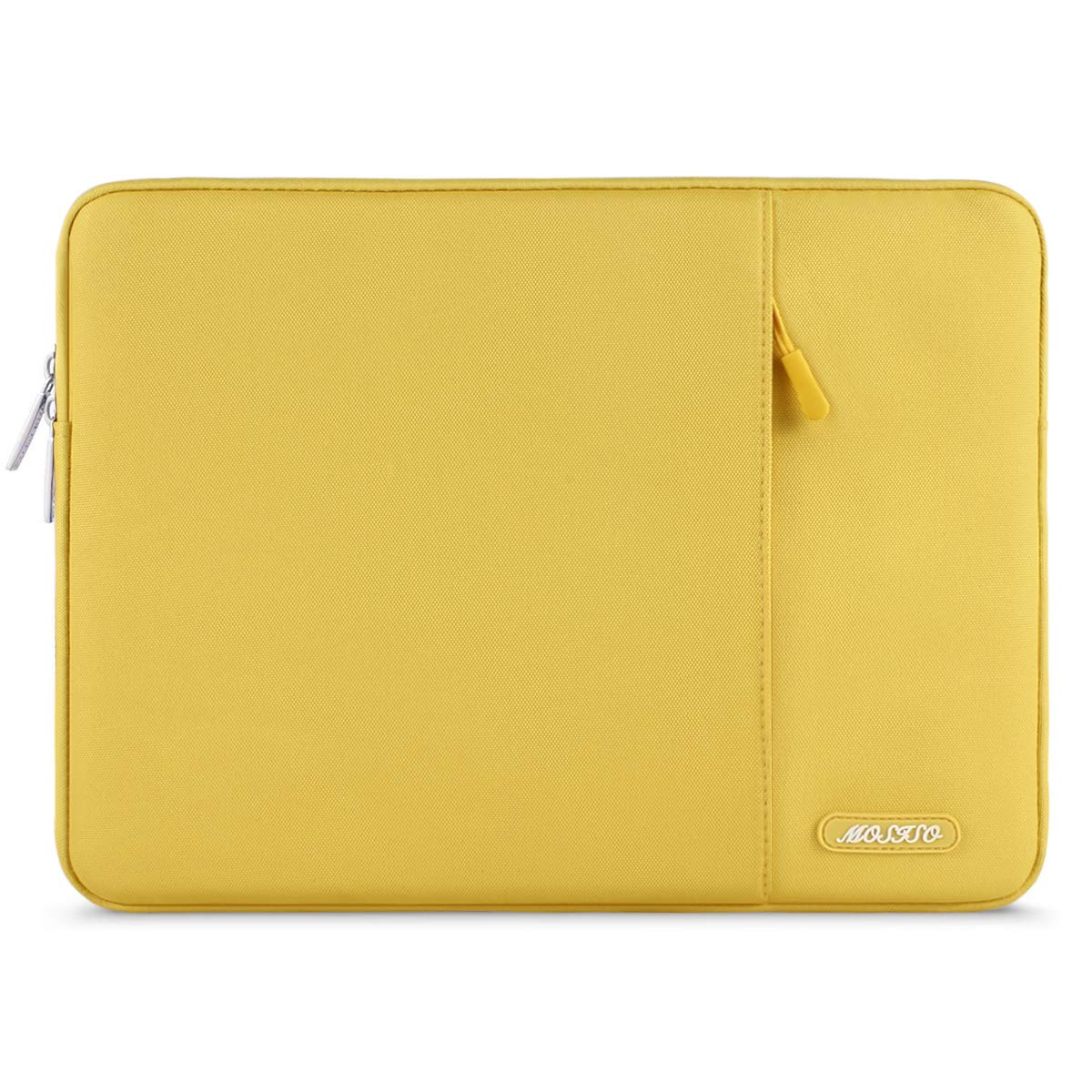 MOSISO Laptop Sleeve Bag Compatible with 13-13.3 inch MacBook Pro, MacBook Air, Notebook Computer, Vertical Style Water Repellent Polyester Protective Case Cover with Pocket, Yellow