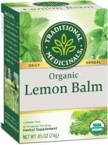 Traditional Medicinals Organic Lemon Balm Herbal Tea, 16 Tea Bags (Pack of 6)