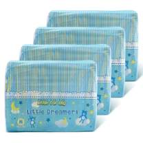 Littleforbig Printed Adult Brief Diapers Adult Baby Diaper Lover ABDL 40 Pieces (4 Packs) - Little Dreamers(M)