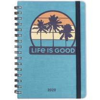 """Life is Good for Cambridge 2020 Weekly & Monthly Planner, 5-1/2"""" x 8-1/2"""", Small, Hardcover, Palm Trees (5246-200)"""