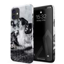 BURGA Phone Case Compatible with iPhone 11 - Disturbed Mind Savage Wild Wolf Cute Case for Women Thin Design Durable Hard Plastic Protective Case