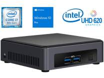 Intel NUC NUC7i7DNKE Mini PC/HTPC, Intel Quad-Core i7-8650U 1.9GHz Upto 4.2GHz, 8GB DDR4, 1TB NVMe SSD, 4k Support, Dual Monitor Capable, WiFi, Bluetooth, Windows 10 Pro 64Bit