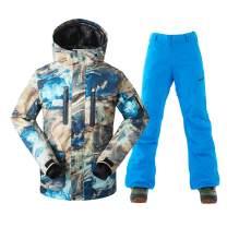 Men's Ski Jacket Waterproof Windproof Fashion Snowboard Coat
