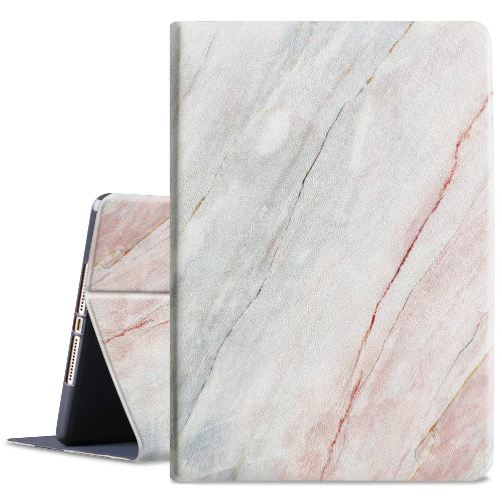 HBorna New iPad 10.2 Case (2019 iPad 7th Generation), Adjustable Stand Folio Cover with Auto Sleep/Wake Function, 10.2 inch Case for Apple iPad 7th Gen, Marble