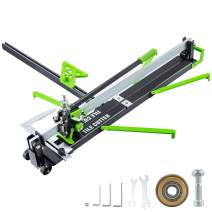 Mophorn 39 Inch Manual Tile Cutter w/Precise Laser Positioning & Anti-sliding Rubber Surface Single Rail Four Brackets Suitable for Porcelain and Ceramic Floor Tiles