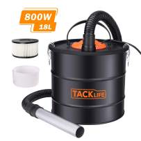 Ash Vacuum, Tacklife Ash Vacuum Cleaner 800W, Ash Vac Canister 5 Gallon Capacity Debris/Dust/Ash Collector, Suitable for BBQ Grill, Fireplace, Coal Stove-PVC03A