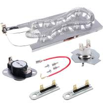3387747 Dryer Heating Element & 279816 Thermostat Kit & 33925192 Thermal cut-off Fuse Replacement Compatible with kenmore, samsung, whirlpool, kitchenaid electric dryers and more