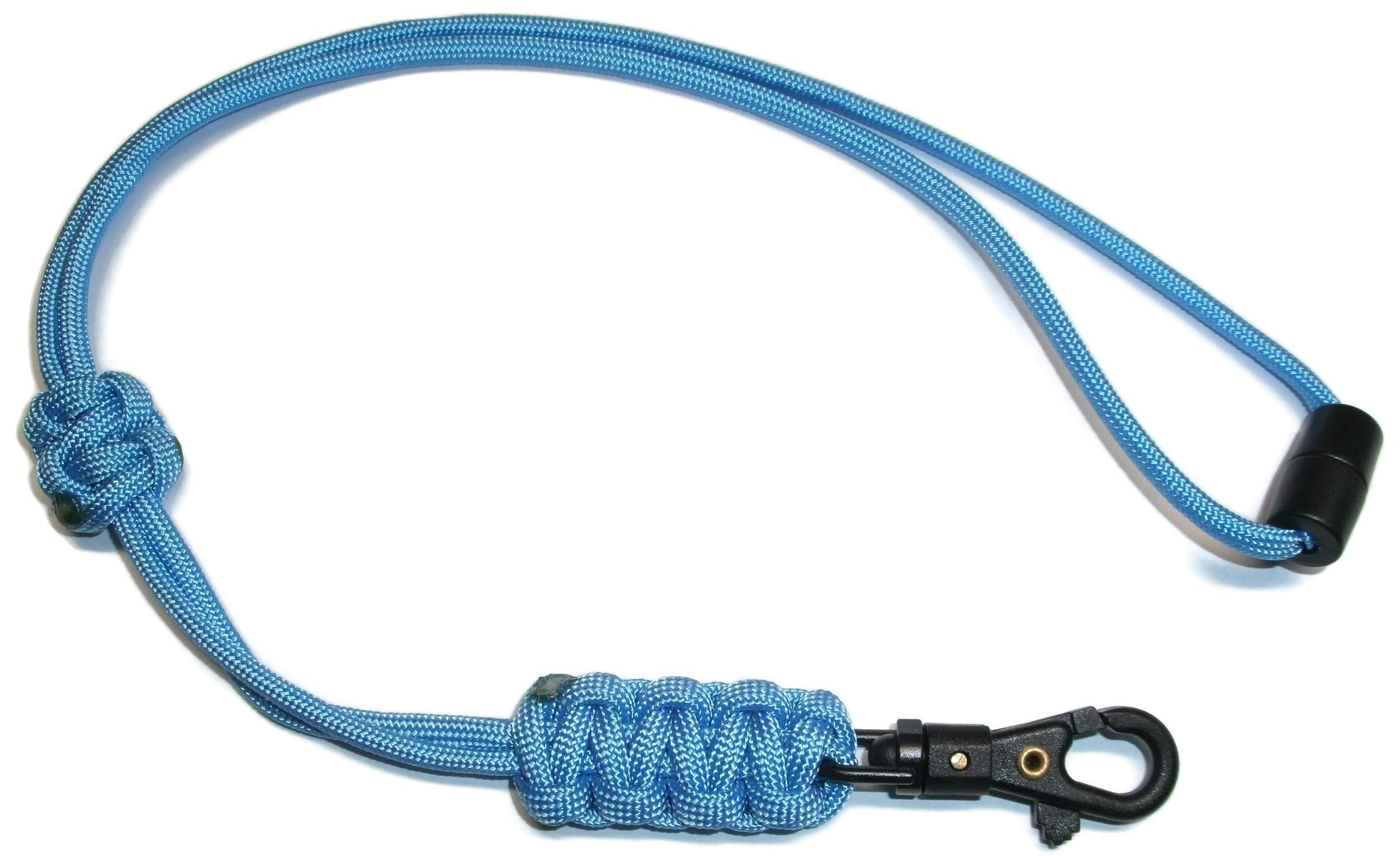 RedVex Paracord Cobra Neck Lanyard with Safety Break-Away and Adjuster - ABS Clip - Choose Your Color and Size (Customization Available) (18 inch, Baby Blue)