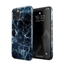 BURGA Phone Case Compatible with iPhone 11 PRO MAX - Dark Ice Blue and Black Marble Cute Case for Girls Thin Design Durable Hard Shell Plastic Protective Case