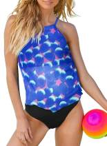 Aleumdr Women's Paisley Print Bathing Suits T-Back Push up Two Piece Swimsuit