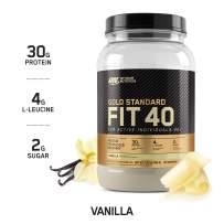 OPTIMUM NUTRITION Gold Standard FIT 40 Protein Powder Vanilla (1.72 Lbs. / 20 Servings)