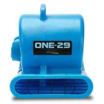 BlueDri One-29 1/3 HP High Velocity Heavy Duty Portable Air Mover Floor Carpet Dryer Blower Fan for Water Damage Equipment Restoration, Blue