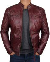 Maroon Leather Jackets - Real Lambskin Leather Jackets for Men