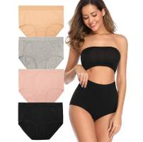 Breathable Cotton High Waist Women's Underwear Classic Women Panties Regular and Plus Size