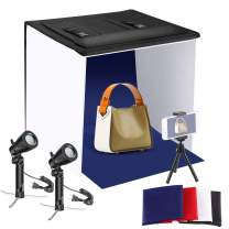Neewer 20x20 inches Table Top Photography Studio Lighting Light Tent Kit with Foldable Shooting Box, Led Light, Mini Tripod, Phone Holder, 4 Color Backdrops for Product Shooting Advertising