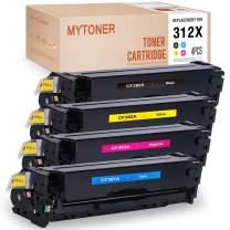 MYTONER Remanufactured Toner Cartridge Replacement for HP 312X CF380X CF381A CF382A CF383A for HP Color Laserjet Pro MFP M476dw M476dn Printer (Black Cyan Magenta Yellow, 4-Pack)