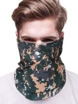 Milumia Men Outdoor Sports Multifunctional Headwear Headband Neck Gaiter Dust Face Bandanas