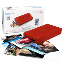 SereneLife Portable Instant Mobile Photo Printer - Wireless Color Picture Printing from Apple iPhone, iPad or Android Smartphone Camera - Mini Compact Pocket Size Easy for Travel Red