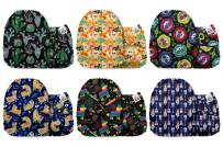 Mama Koala Unisex Baby Reusable Washable Pocket Cloth Diapers with 6 Microfiber Inserts-Pack of 6 (CHIDO)