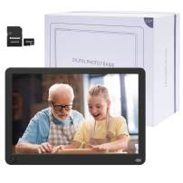 Kenuo Digital Picture Frame 10.1 Inch Motion Sensor Include 32GB Card 1920x1080 IPS Screen Digital Photo Frame, Auto Power On/Off, Music Support 1080P Video Music, SD Card and USB