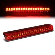 Rear High Mount Red Housing LED 3rd Third Tail Brake Light w/Cargo Lamp Replacement for Chevy GMC C/K GMT400 88-00