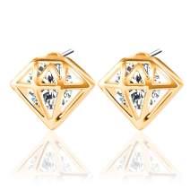 UHIBROS Stud Earrings Women Hypoallergenic Stainless Steel Earrings Cubic Zirconia Studs Earrings