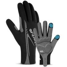 Hikenture Full Finger Cycling Gloves for Men and Women - Touchscreen Mountain Bike Gloves - Anti-Slip Padded Road Biking Gloves for Motorcycle,Bicycle Riding,Sports,Driving,Hiking