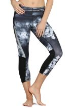 icyzone Workout Capri Leggings for Women - Active Athletic Yoga Pants Exercise Gym Running Tights