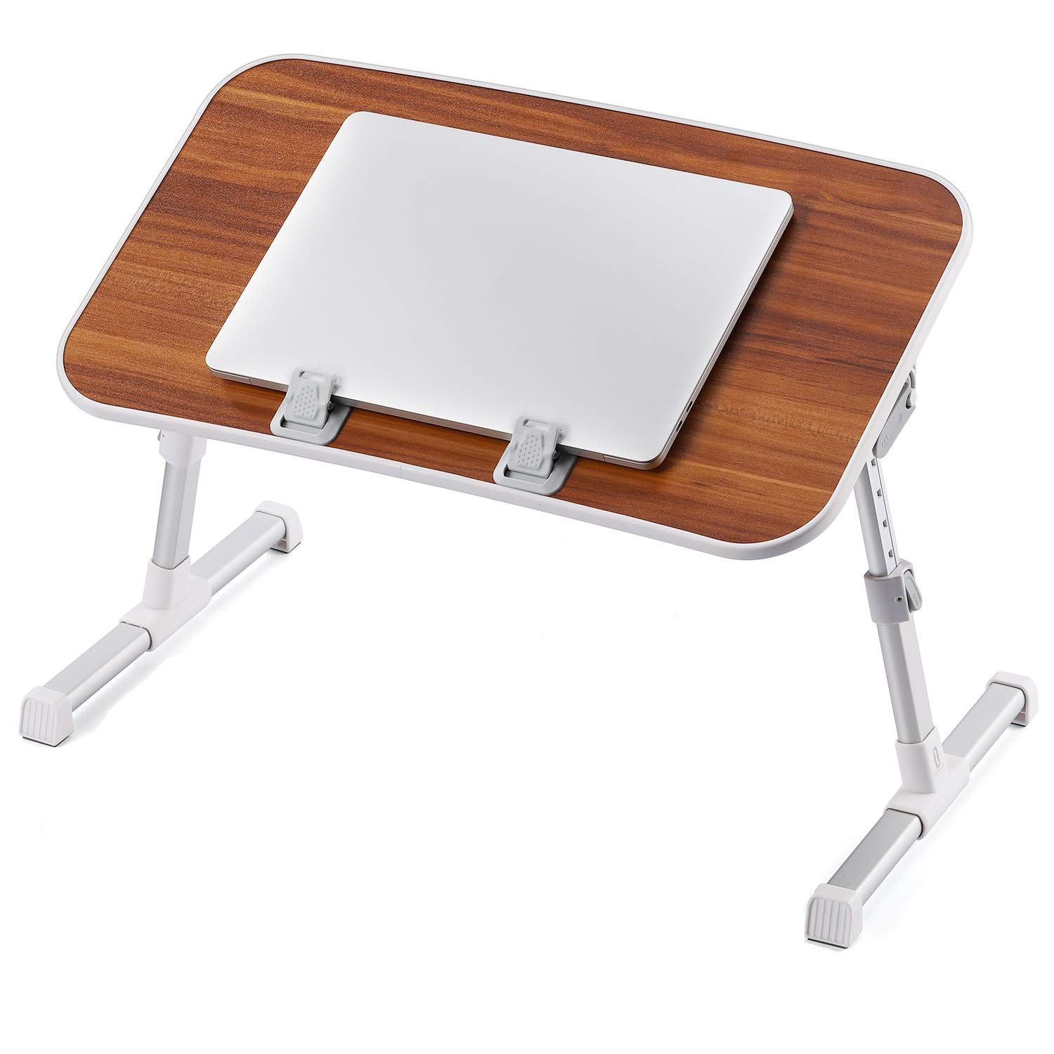 Laptop Tables Laptop Desk for Bed, TaoTronics Lap Desks Bed Trays for Eating and Laptops Stand Lap Table, Adjustable Computer Tray for Bed, Foldable Bed Desk for Laptop Writing Sofa Couch